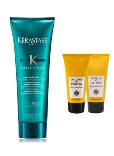 Kerastase Kerastase Bain Therapiste Çok Yıpranmış ve Aşırı İşlem Görmüş Saçlar için Şampuan 250 ml + Acqua Di Parma (Vücut Kremi + Duş Jeli ) 75ml Renksiz